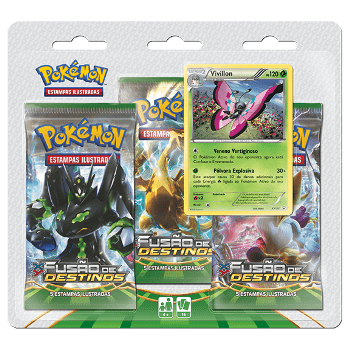 POKÉMON - TRIPLE PACK VIVILLON XY 10 FUSÃO DE DESTINOS