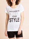 [Talle 3XL] Remera 'This is how to keep your style'