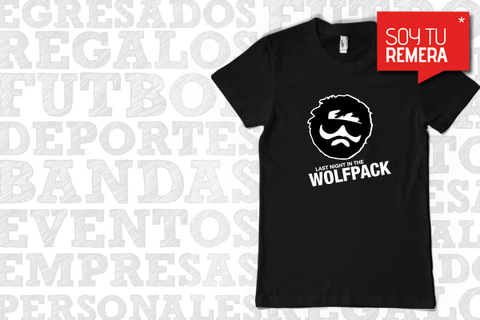 Remera Que paso ayer - Hangover Last night in the wolfpack
