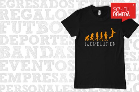 Remera Basket - La evolucion