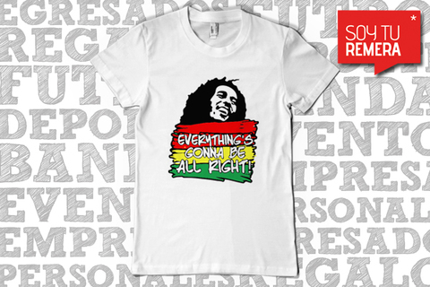 Remera Bob Marley - Everything's gonna be alright