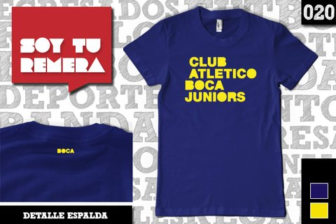 Remera Club Atlético Boca Juniors