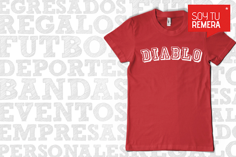 Remera Independiente Diablo