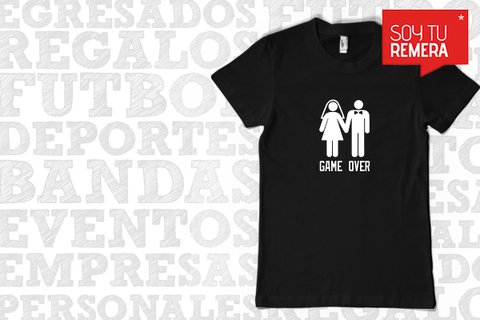 Remera GAME OVER - Despedida de Soltero