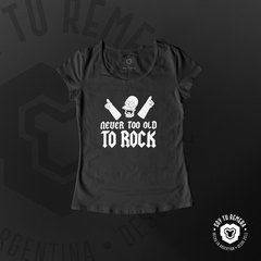 Remera Homero - Never too old to rock - comprar online