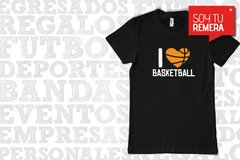 Remera I Love Basketball - Amo el Basket