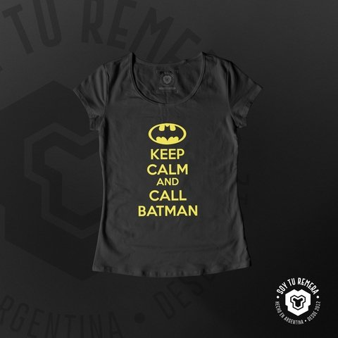 Remera Keep Calm and call Batman - comprar online