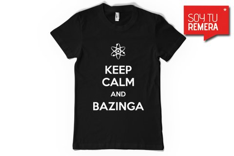 Remera Keep calm and Bazinga II - comprar online