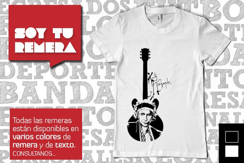 Remera Keith Richards - Stones