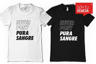 Remera Never Pony Pura Sangre