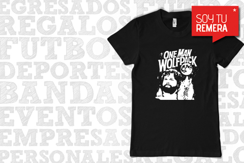 Remera Qué paso ayer? Hangover - One Man WolfPack