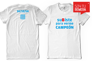 Remera Racing Campeon 2014