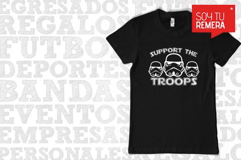 Remera Support the Troops - Star Wars - comprar online