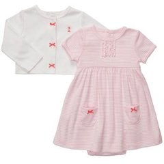 Carter's - Set body/vestido con saquito