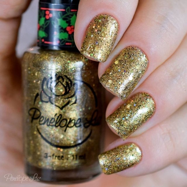Esmalte Penélope Luz - Natal 2015 - I Wish Money na internet