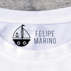 Velero Navy - Sello para Tela + Papel