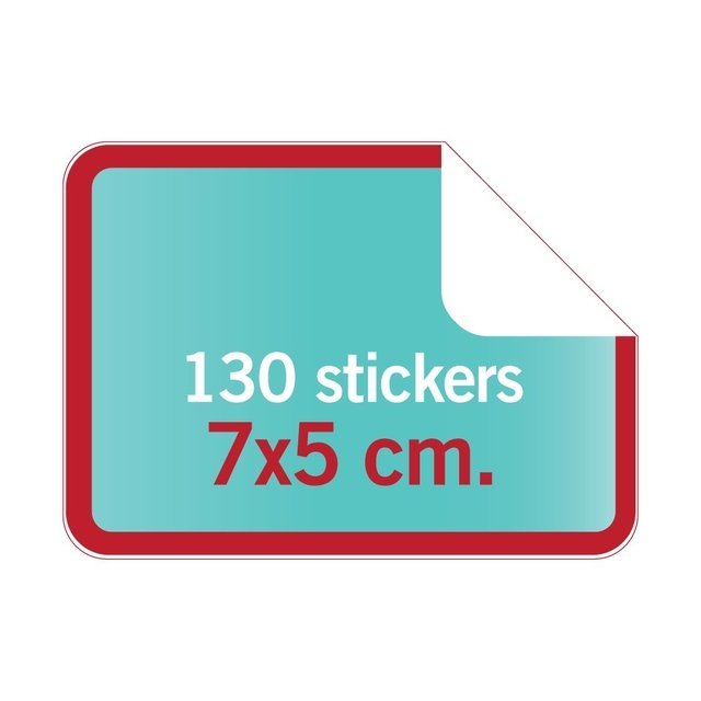7x5 cm. > Stickers rectangulares con forma