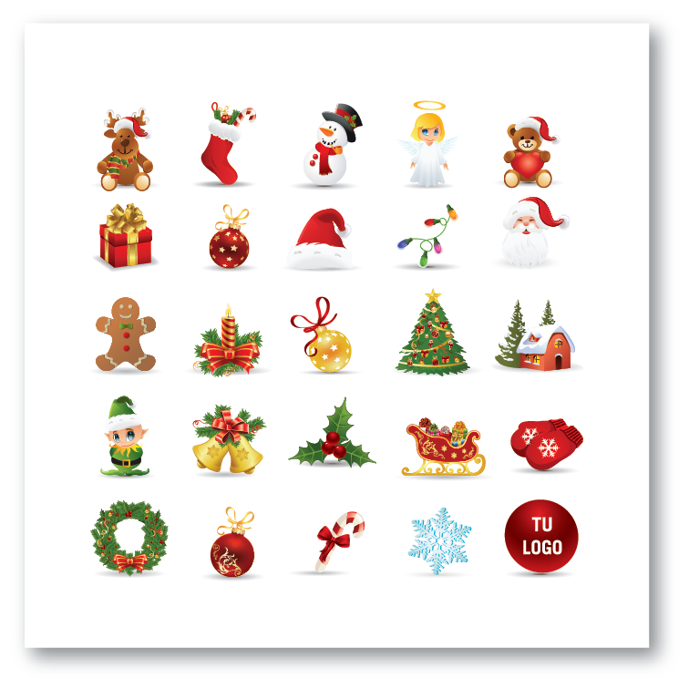 iconos navidad tarjetas para navidad y fin de ao