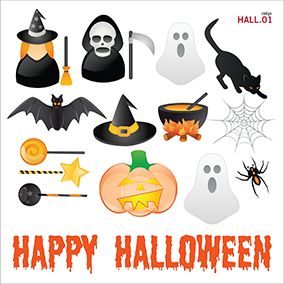 Iconos Halloween - vinilo decorativo