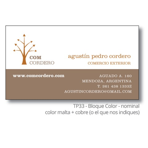 Bloque Color > 100 tarjetas personales