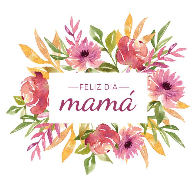 mam u00e1 flores watercolor