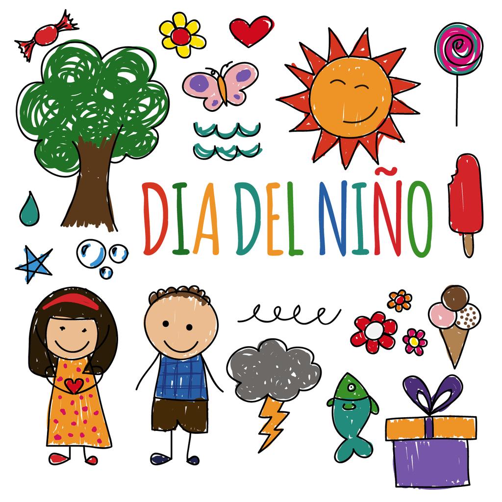 Dibujo Infantil Vinilo Decorativo Día Del Niño