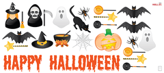 Iconos Halloween - Vinilo Decorativo Halloween - comprar online