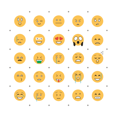 Emojis Flat - Stickers