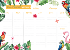 PLANNER SEMANAL - TROPICAL