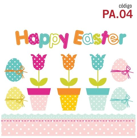 Happy Easter - Vinilo Decorativo Pascuas