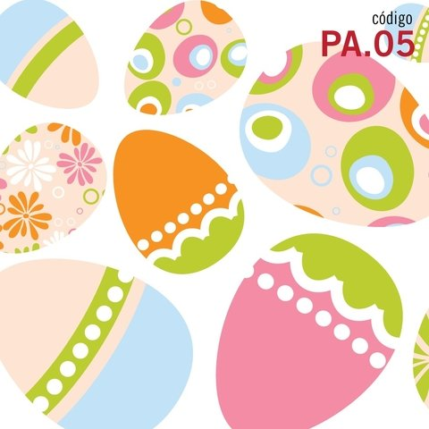 Happy Eggs - Vinilo Decorativo Pascuas