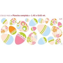Happy Eggs - Vinilo Decorativo Pascuas - comprar online