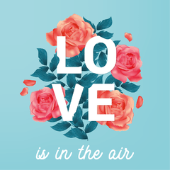Love Is In The Air - Cartel en Vinilo Primavera - comprar online
