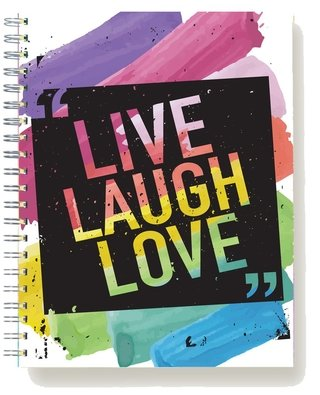 Cuaderno Anillado Live Laugh Love