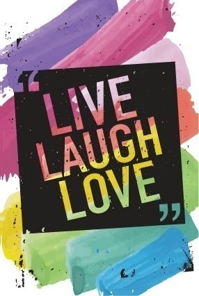 Cuaderno Live Laugh Love Finito