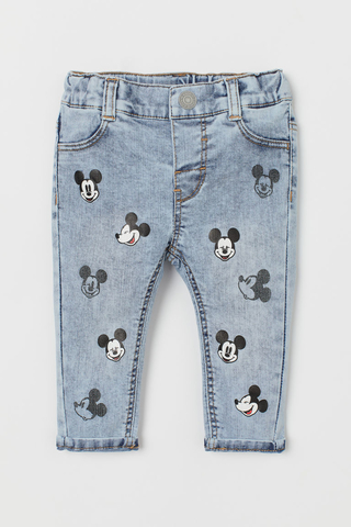 Calça Jeans Mickey Mouse for H&M London