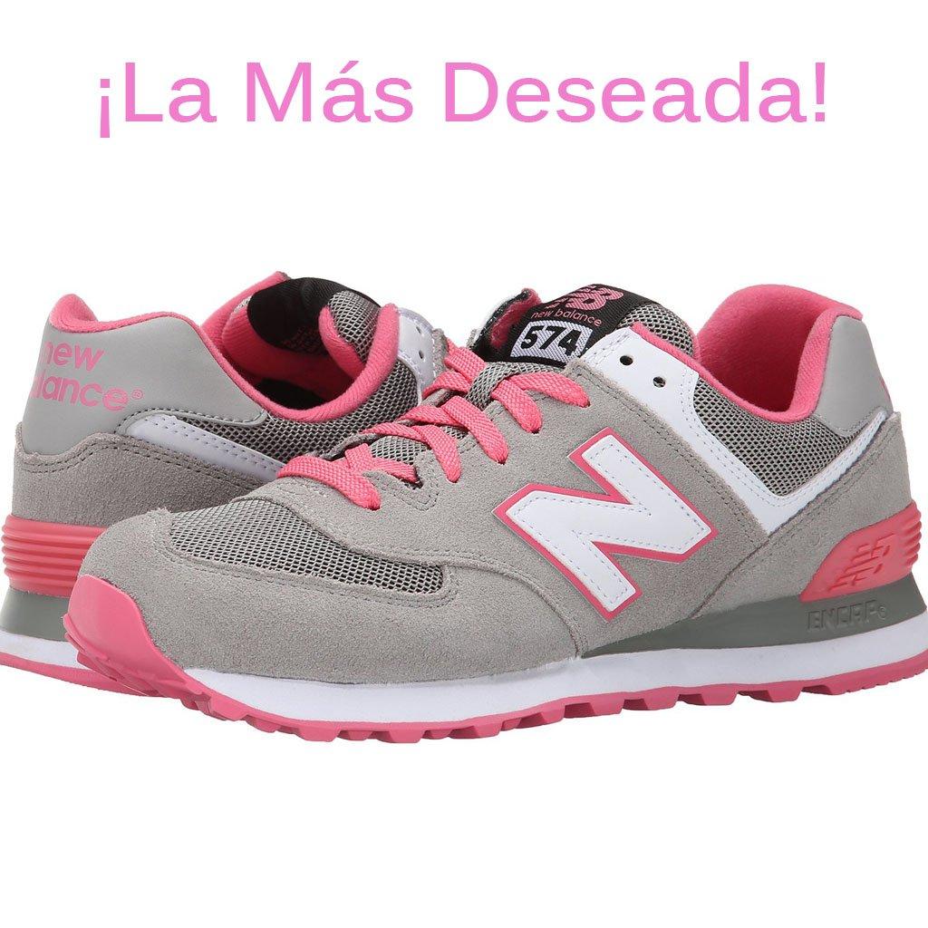 tenis new balance rosa mujer