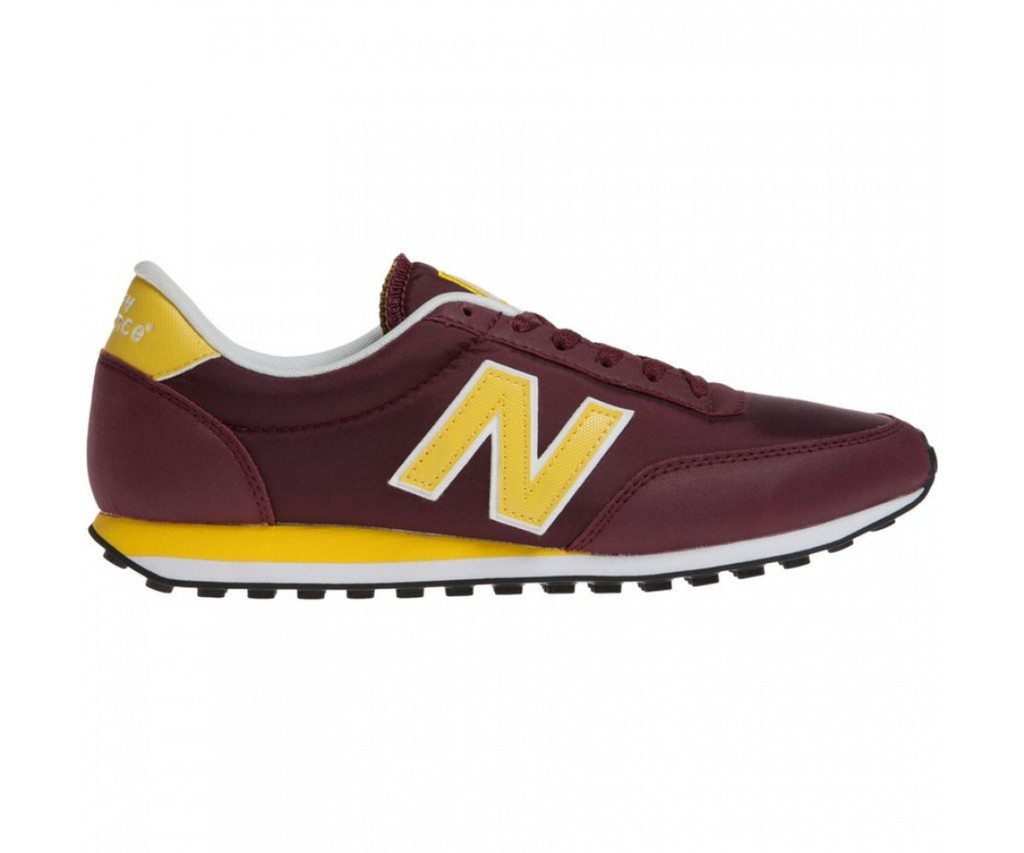 zapatillas new balance u410 granate amarillo