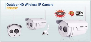 Camara IP Exterior WIFI HD 720p 1MP P2P FOSCAM FI9803P en internet