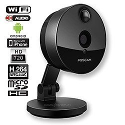 Camara IP Interior WIFI HD 720p 1MP P2P (graba en microSD) - FOSCAM C1 - Super Gran Angular 115º