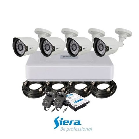 Kit Siera Cámaras 1mpx Exterior + Dvr 4 + Cable 18m + Hd 1tb