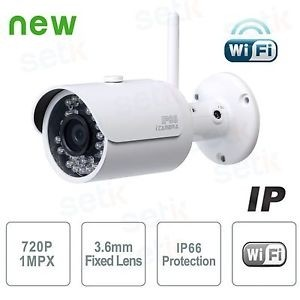 Camara IP Exterior WIFI HD 720p 1MP P2P - Dahua IPC-HFW1000S-W