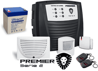 Kit Alarma Premier Inalambrica 2 Controles 2 Sensores - Security Factory
