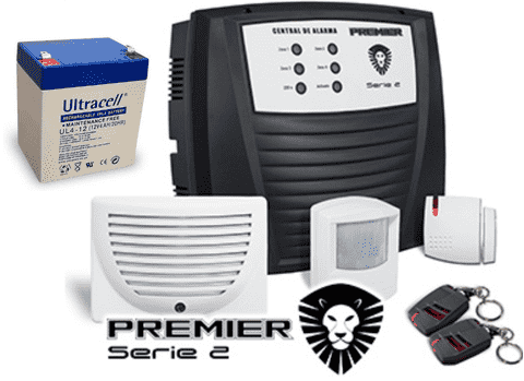 Kit Alarma Premier Inalambrica 2 Controles 2 Sensores - Security Factory - comprar online