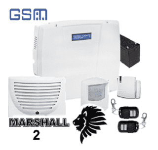 Kit Alarma Ialambrica 15 zonas MARSHALL 2T con GSM incorporado ! - Security Factory