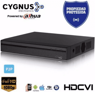 XVR (DVR + NVR) Cygnus XVR4108HS - 8 Videos, 1 Audio