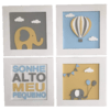 Kit 4 Quadros Decorados