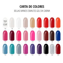 Set 6 Esmaltes Gel Sin Cabina x 14 ml - Bellas Manos - comprar online