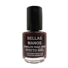 Esmalte Gel Sin Cabina Bordo Oscuro N°140 x 14 ml - Bellas Manos