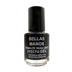Esmalte Gel Sin Cabina Negro N°170 x 14 ml - Bellas Manos